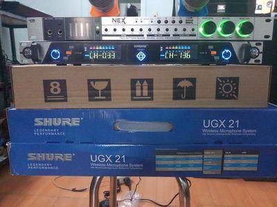 Vang NEX fx8ii .va mic SHURE UGX21 .chính hãng