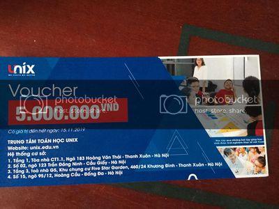0327103020 - Voucher trung tâm toán học Unix