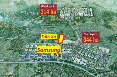 Đất sổ đỏ 90m2 (5x18) Trần Xá, Samsung Bắc Ninh