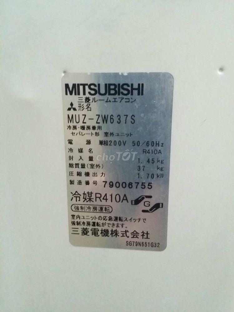 Điều hòa Mishubishi MSZ-ZW637S-W 240000 BTU moi