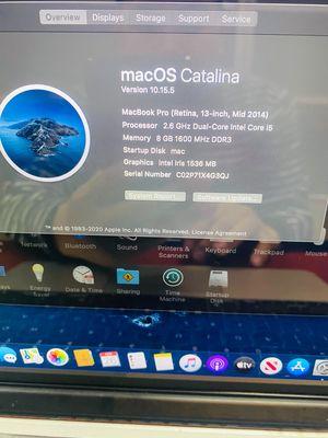 Macbook pro 2014 mgx82 i5 ram 8 ssd 256 màn 13