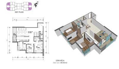 Bán chung cư Eco Dream 97m² 3PN giá 2,75 tỷ