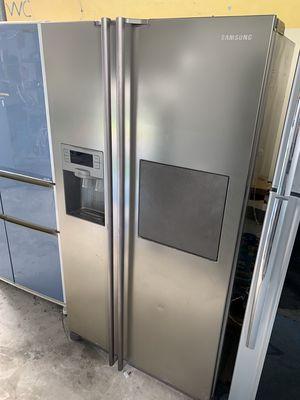 side by side tủ lạnh đá rơi hãng Samsung 2 cánh