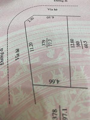 Đất 2 mặt tiền trục chính khu tái định cư Ngọc Châ