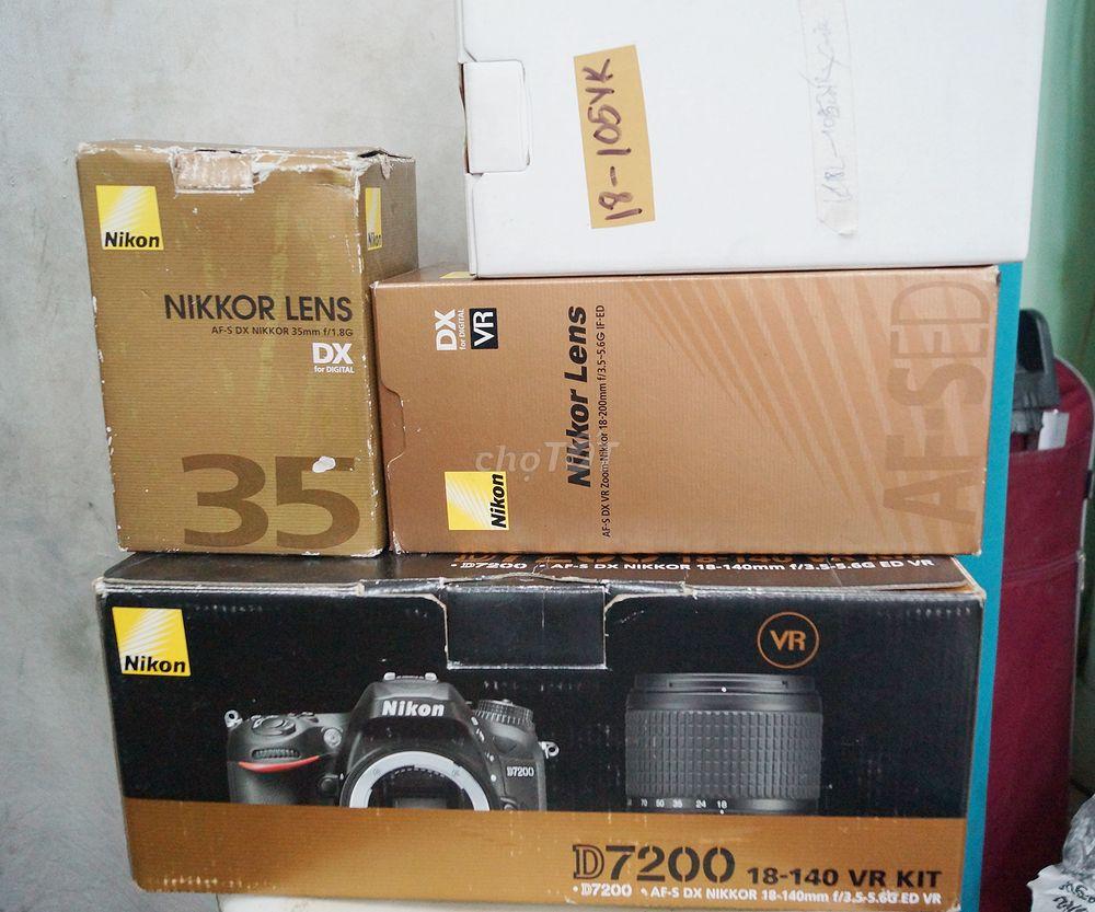 2 bộ D7200 liew new -kèm dàn lens Full box
