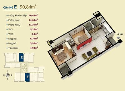 Căn hộ Võ Đình Apartment 90m² 2 PN SHR