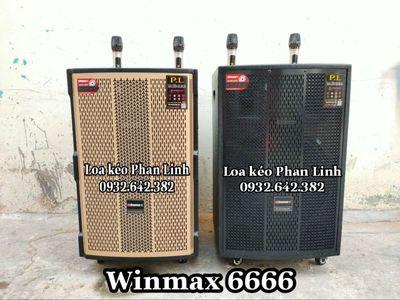 Xã kho loa kéo 4 tất Winmax kèm 2 micro không dây