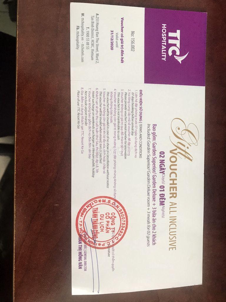 Voucher Resort TTC 4*  Hàm Thuận Nam