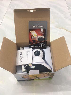 Camera Yoosee wifi 3 râu và thẻ nhớ samsung evo32G