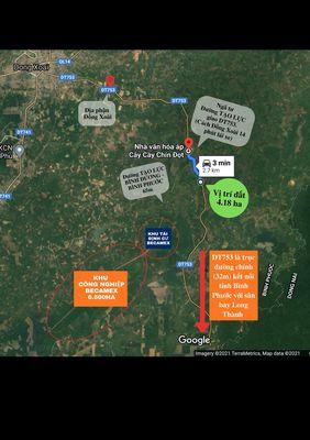 Bán Đất đường DT753 Đồng Phú, Bình Phước 41800m2