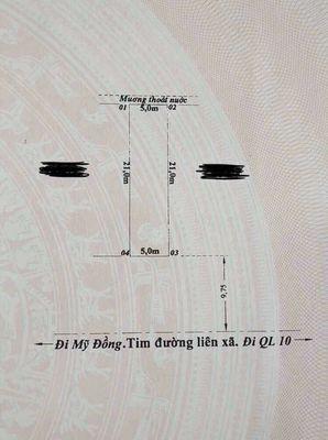 Đất sổ đỏ 105m2 liên xã Kênh Giang-Mỹ Đồng