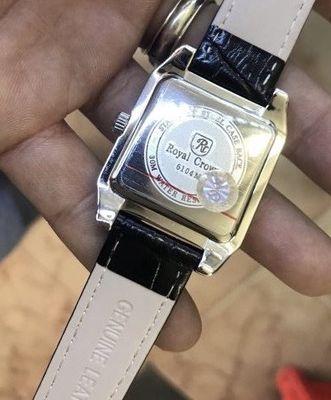 Đồng hồ nữ Royal crown đính đá mạ plantinium