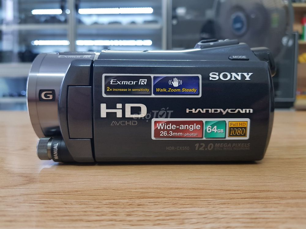 Sony CX-550  Full HD Bộ Nhớ 6GB Mic IN