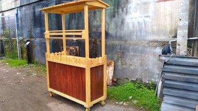 Xe gỗ kinh doanh trà chanh trà đào mới dùng 1 tuần