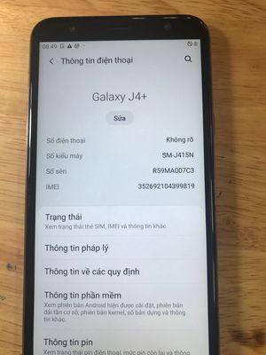 Samsung Galaxy J4 Plus 32 GB vàng 99%