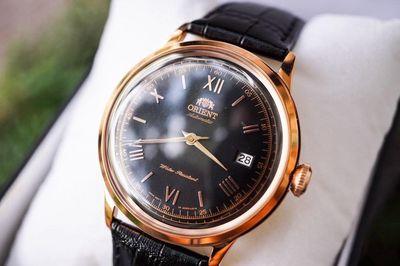 Đồng hồ Orient Bambino Gen 2 Rose Gold Cafe Leathe