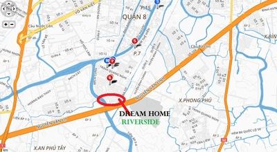 Chung cư Dream Home Riverside quận 8 56m² 2PN