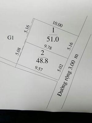 Bán đất nhỏ xinh 51m2 MT 5,16m Tằng Mi, Nam Hồng.