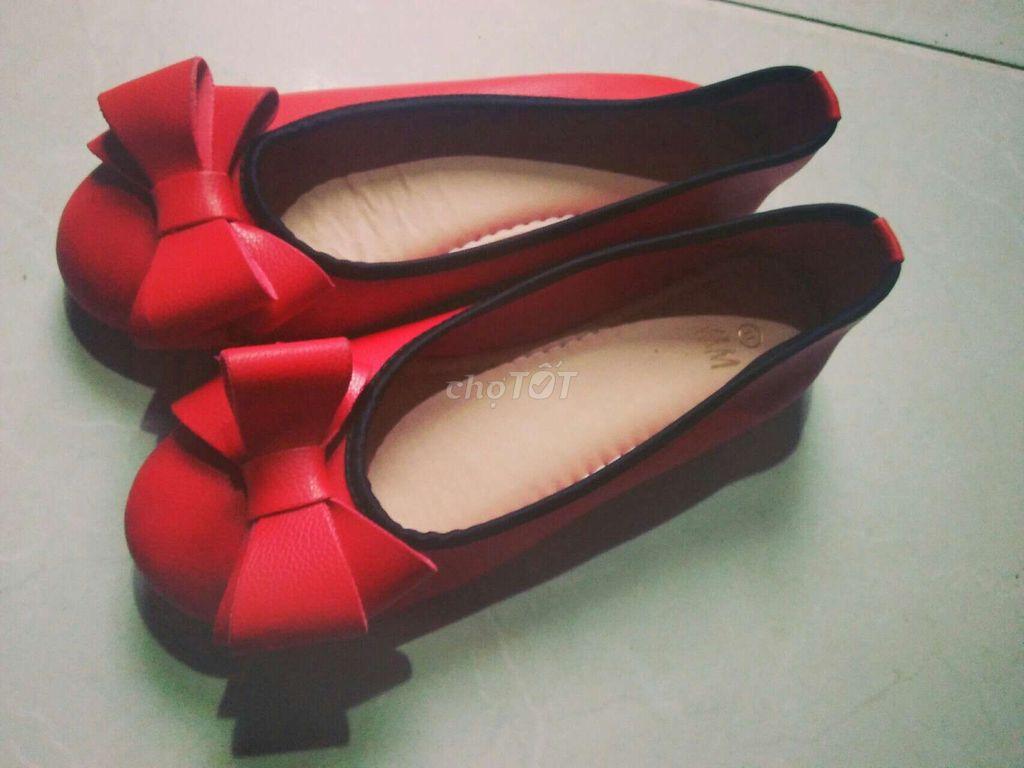 Giày bệt nữ, màu đỏ, size 35