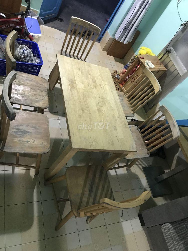 Bộ bàn ăn 6 ghế (Thanh lí nhanh giá tốt)