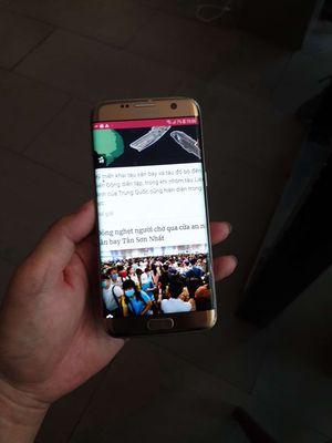 Samsung Galaxy S7 Edge Vàng 128 GB nứt lưng