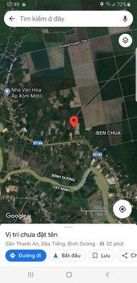 Đất sổ đỏ 697m2 (6x116)bến chùa,thanh an,dầu tiếng