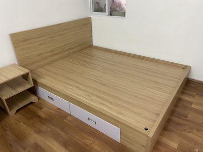Xả COMBO nội thất Phòng Ngủ: Giường + Nệm + Kệ Tab
