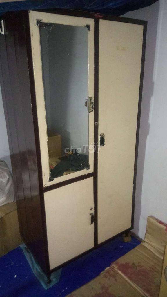 0931334100 - Tủ nhôm quần áo cao:1m65 rộng 80cm.còn rất đẹp