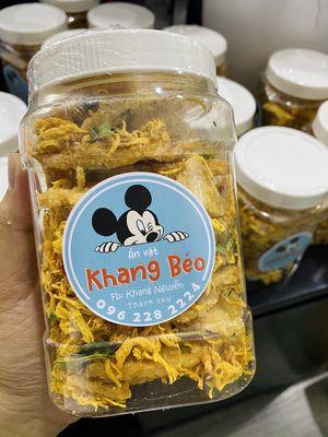 Cơm cháy lắc khô gà lá chanh Khang Béo