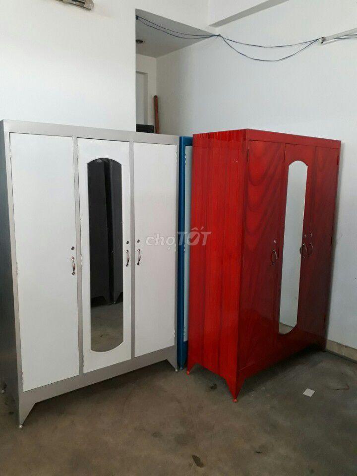 tủ sắt 2-3 người xài, ngang 1m2 2 cửa 3 cửa NEW