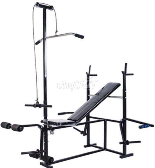 Giàn ghế tập gym đa năng 8 bài tập (mẫu 2019)