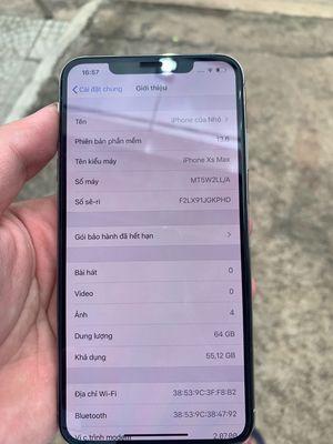iPhone XS Max 64 GB trắng Nguyên áp suất