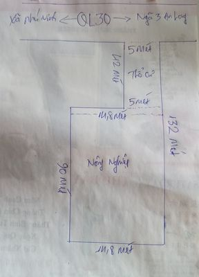 Đất Sổ Đỏ Cặp Quốc lộ 30 Xã Phú Ninh 5x42 - 15x90