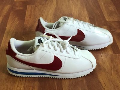Giày Nike Cortez OG REAL, size 38,5, trắng đỏ xanh