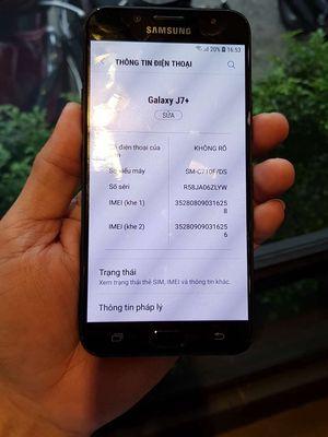 Galaxy J7 Plus Xanh ram 4gb/32gb,ss VN 2sim