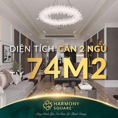 Chung cư cao cấp HARMONY 2.93T 76m2 TẶNG NGAY 15TR