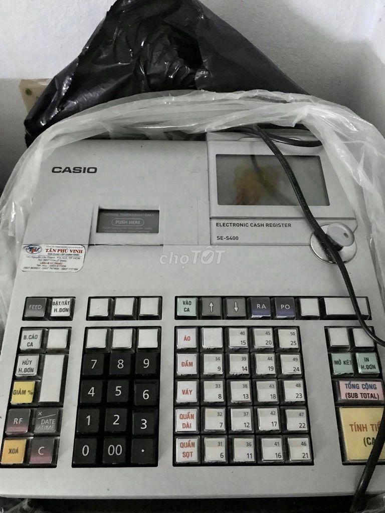 0708205547 - Máy tính tiền casio se s400 còn mới thanh lý rẻ