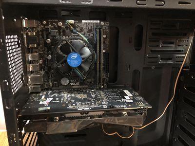 Bộ PC i3 9100 Rx 570 8Gb ssd 60g hd 500 nguồn 600W