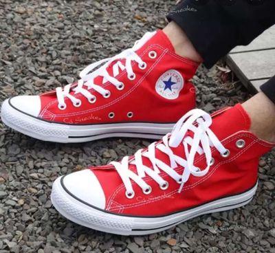Giày converse cổ cao,màu đỏ,size 37-38