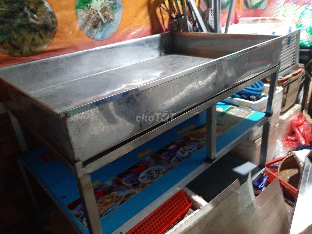 0911397943 - Mâm inox bán hải sản,tôm sống,cá sống, có chân30cm