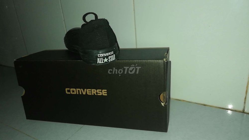 Giày converse fullblack, size 40