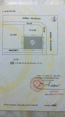 Đất sổ đỏ ( 8 x 13,4) - đường Tân Trào - Vạn Lộc