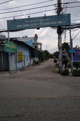 đất 4x29 = 114m2 thổ cư 1 xẹt đường Phạm Thị Giây