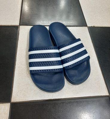 Dép bánh mì Adidas chính hãng xanh navy đậm