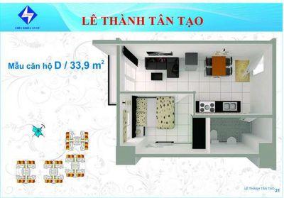 Chung cư Lê Thành Tân Tạo 34m² 1PN