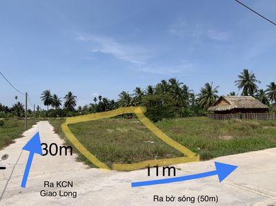 Lô đất 02 mặt tiền đường Bê tông 4m, gần KCN Giao