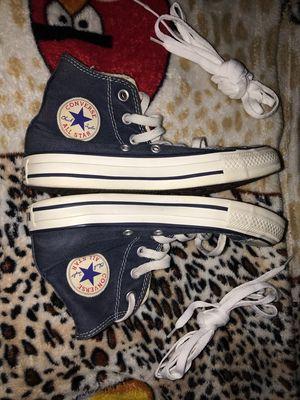Giày Converse cổ cao màu xanh