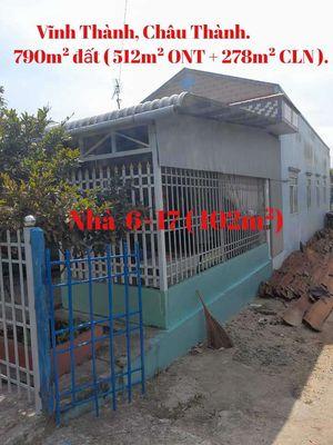790m² đất có nhà C4, Vĩnh Thành, Châu Thành, AG