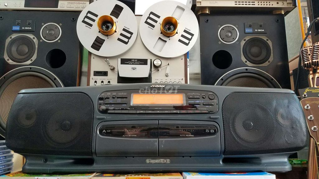CASSETTE BOOMBOX VICTOR HORN EXII