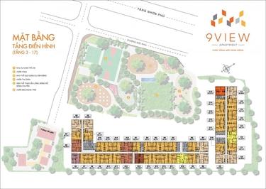 Chung cư 9 View Apartment 90m² 3PN giá 1.9tỉ